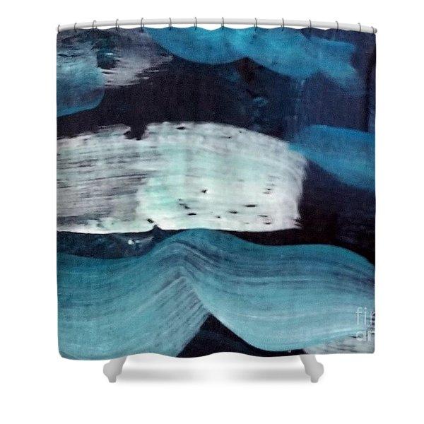 Deep Blue #3 Shower Curtain