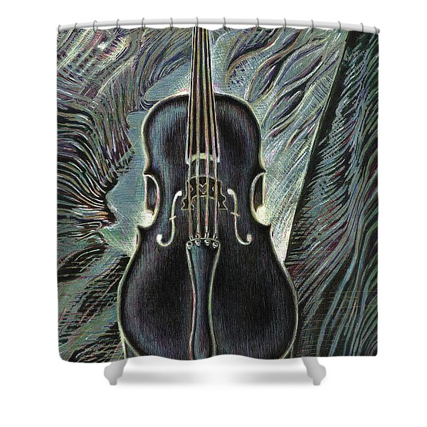 Deep Cello Shower Curtain