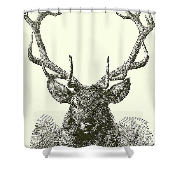 Deer Head  Shower Curtain
