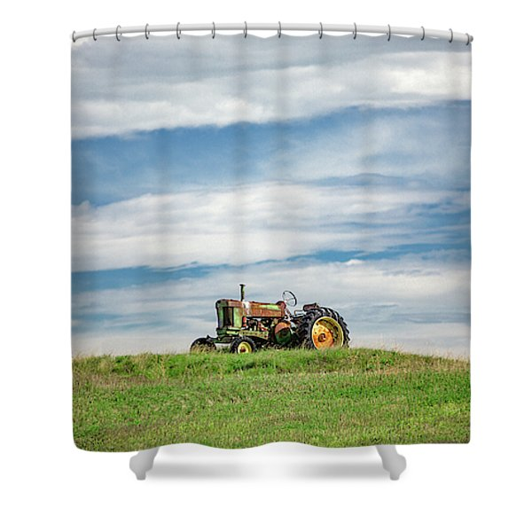 Deere On The Hill Shower Curtain