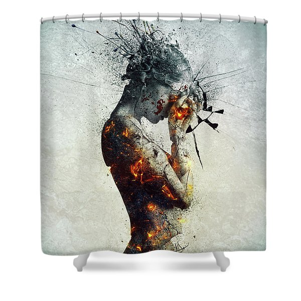 Deliberation Shower Curtain