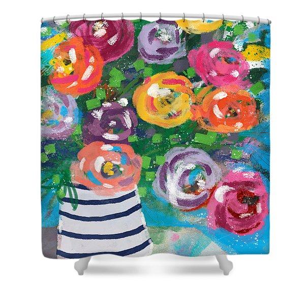 Delightful Bouquet 6- Art By Linda Woods Shower Curtain