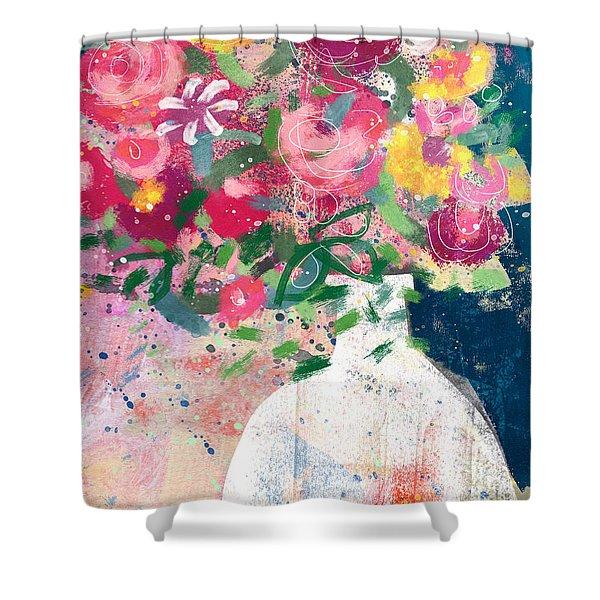 Delightful Bouquet- Art By Linda Woods Shower Curtain