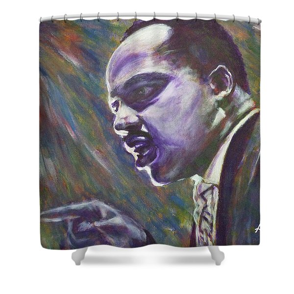 Demonstrations With Dignity Shower Curtain