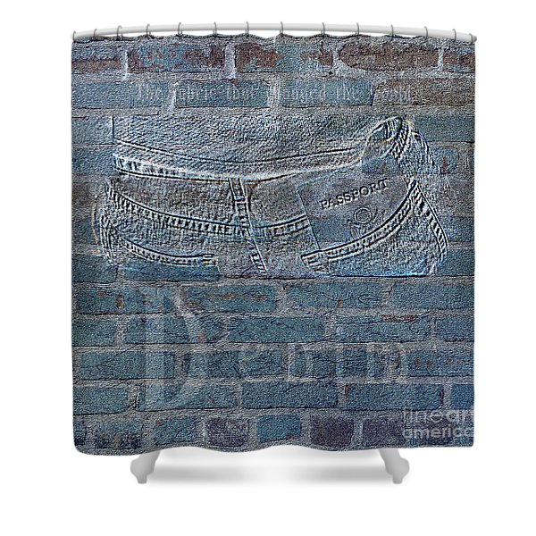 Denim- Sexy Blue Jeans Shower Curtain