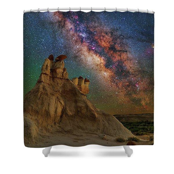 Desert Castle Shower Curtain