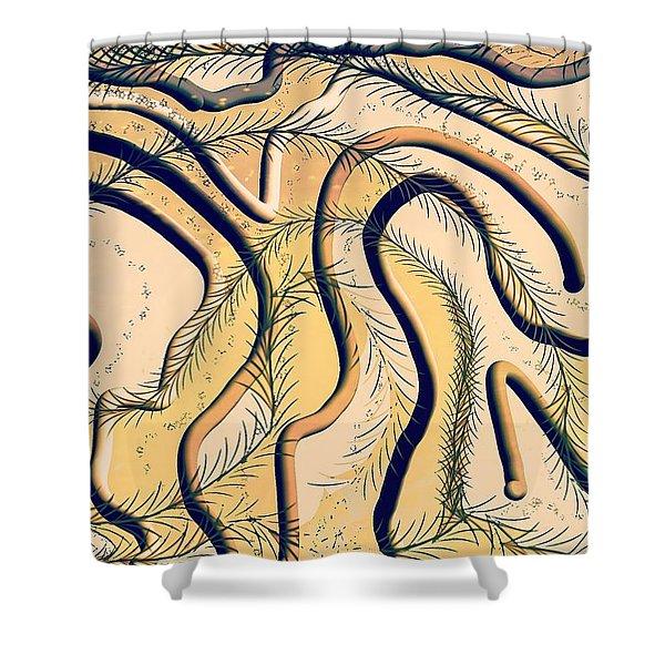 Desert Map Shower Curtain