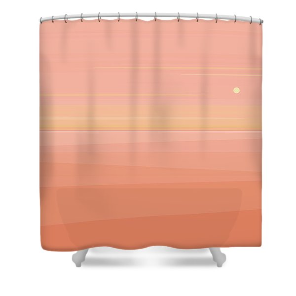 Desert Peach Dawn Shower Curtain