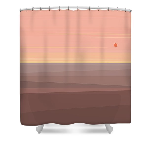 Desert Peach Shower Curtain