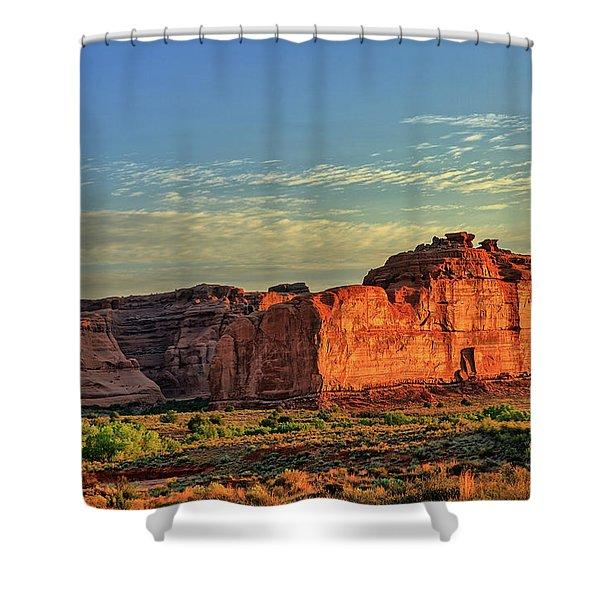 Desert Sunrise In Color Shower Curtain