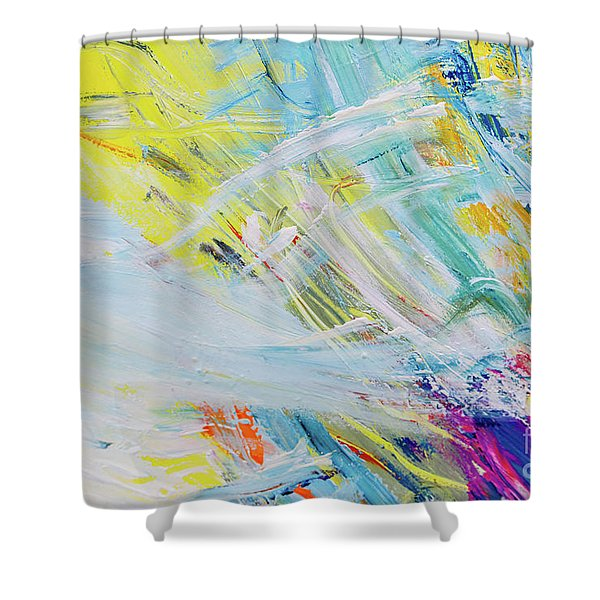 Detail Of Brush Strokes Of Random Colors To Use As Background An Shower Curtain