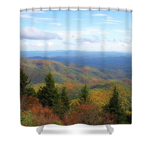 Devil's Courthouse View Shower Curtain
