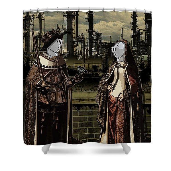 Dialog Shower Curtain