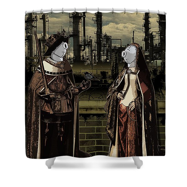 Dialog Shower Curtain