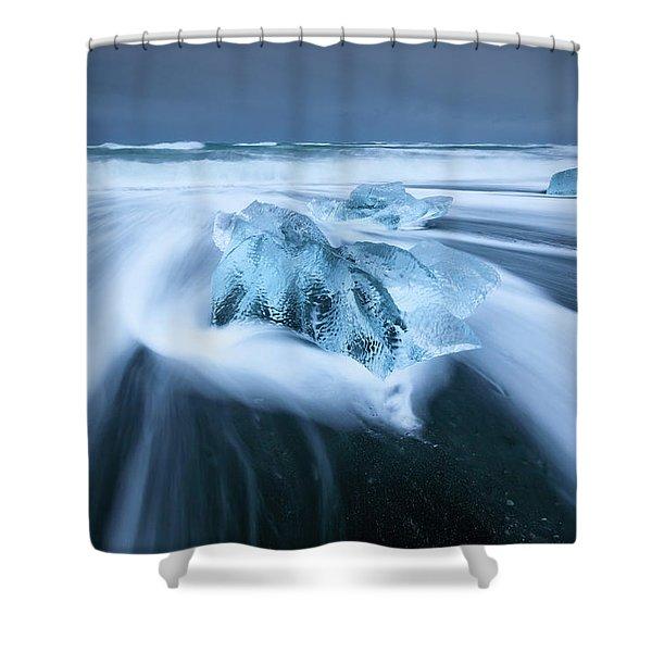 Diamond Beach Shower Curtain