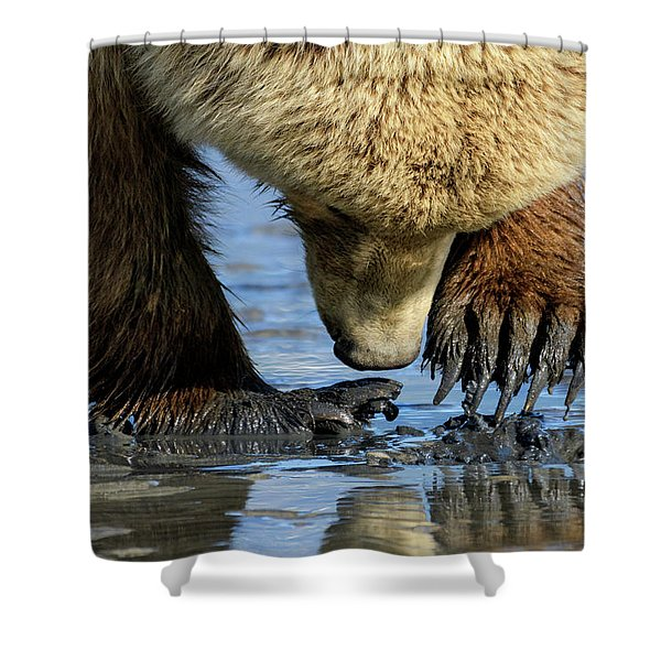 Digging Shower Curtain