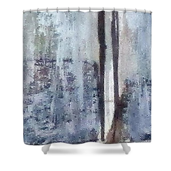Digital Abstract N13. Shower Curtain