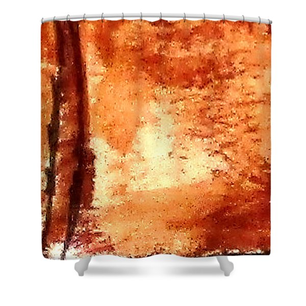 Digital Abstract No9. Shower Curtain