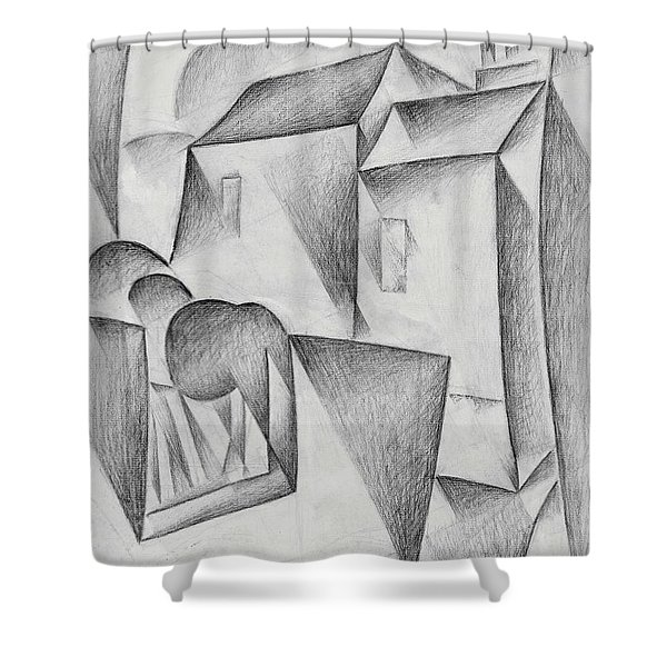 Digital Remastered Edition - Houses In Paris, Place Ravignan - Original White Shower Curtain