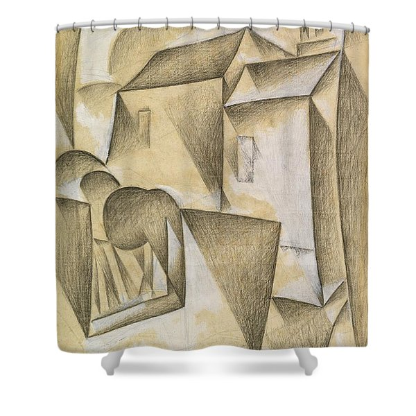 Digital Remastered Edition - Houses In Paris, Place Ravignan Shower Curtain