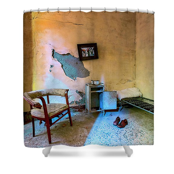 Disappearance Shower Curtain