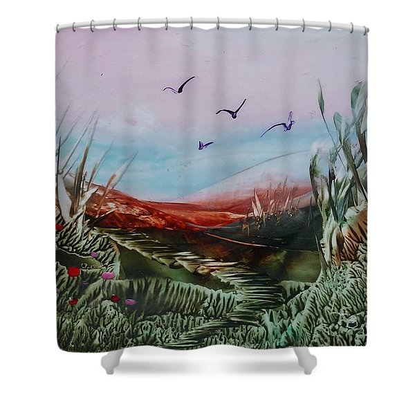 Disappearing Pathway Shower Curtain