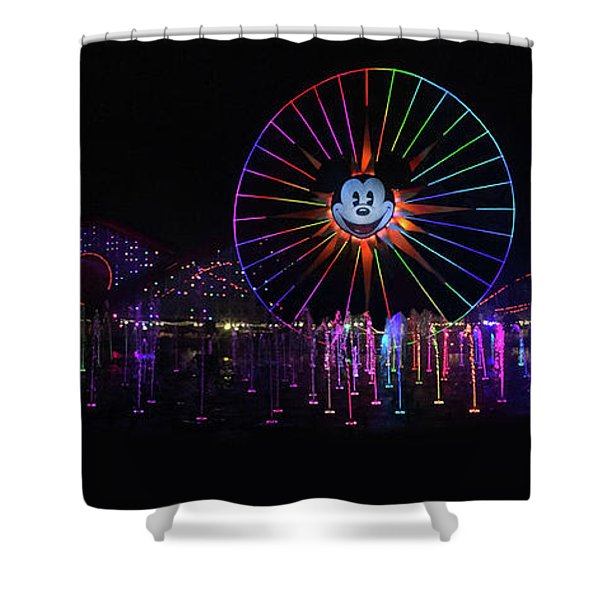Disney California Panorama Shower Curtain