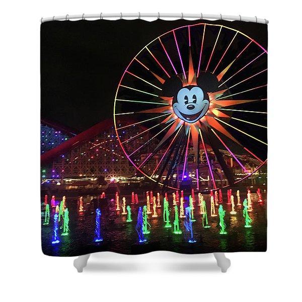 Disney World Ferris Wheel  Shower Curtain