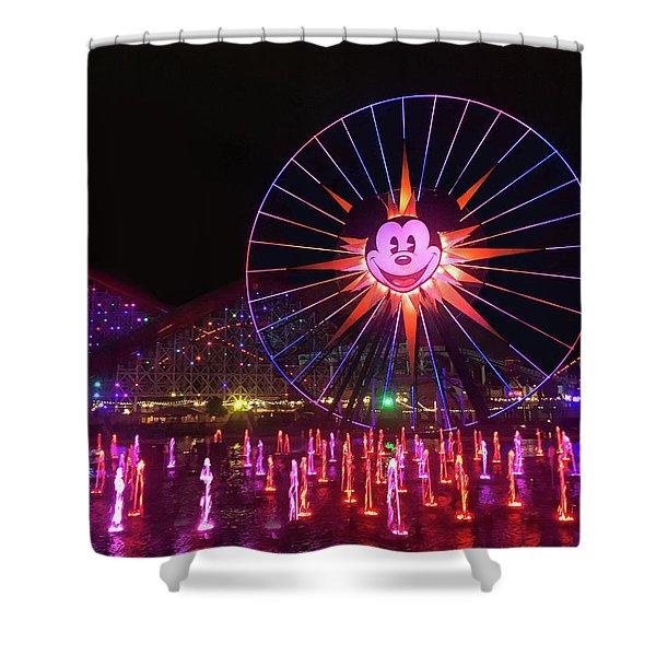 Disney World Ferris Wheel Night View Shower Curtain