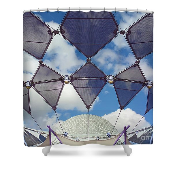 Disney World Showcase Shower Curtain