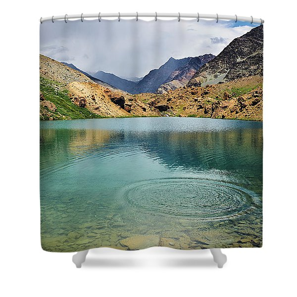 Shower Curtain featuring the photograph Distant Rains by Whitney Goodey
