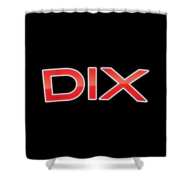 Dix Shower Curtain