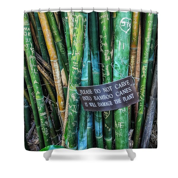 Do Not Carve Shower Curtain