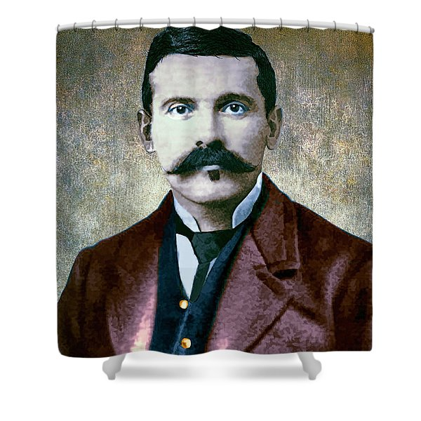 Doc Holliday Painterly Shower Curtain