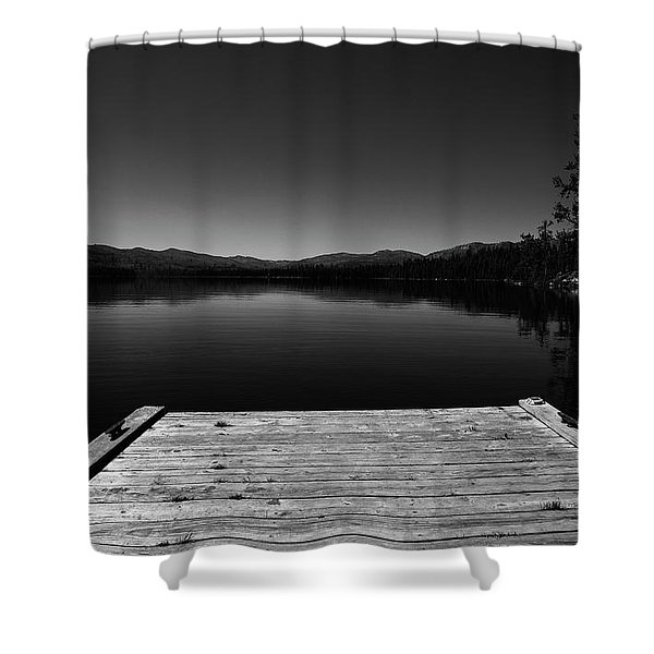 Shower Curtain featuring the photograph Dock At Dusk by Tom Gresham