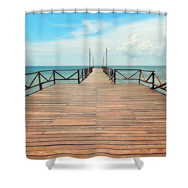 Dock To Infinity Shower Curtain