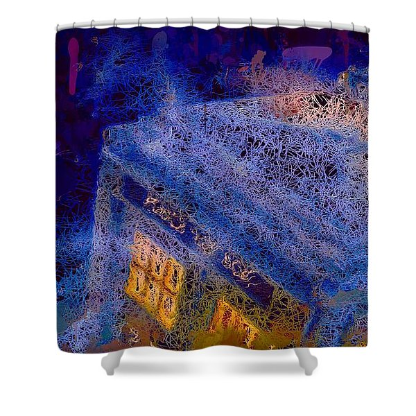Doctor Who Tardis 2 Shower Curtain