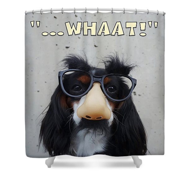 Dog Gone Funny Shower Curtain