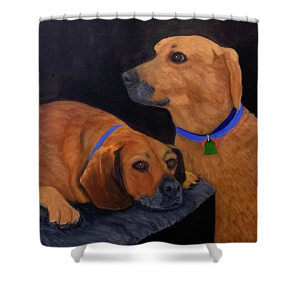 Dog Love Shower Curtain
