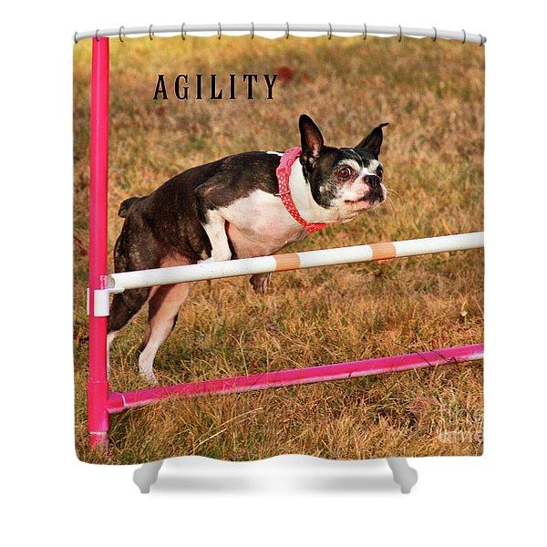 Doggie Agility  Shower Curtain