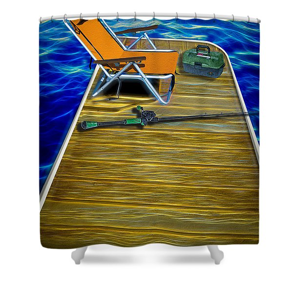 Done Fishing Shower Curtain