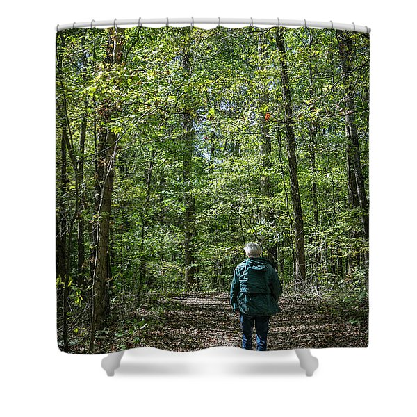 Donna At Heron Pond Shower Curtain