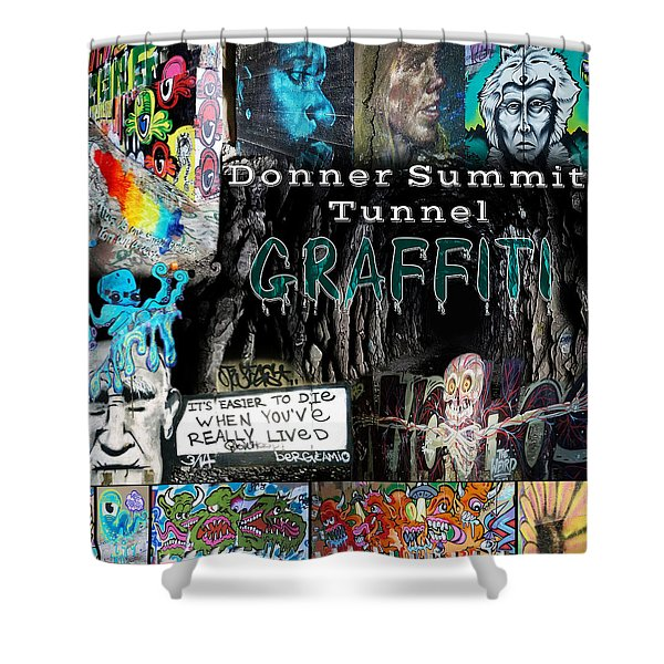 Donner Summit Graffiti Shower Curtain
