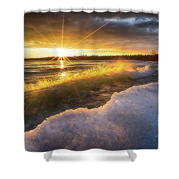 Door County Sunset Shower Curtain