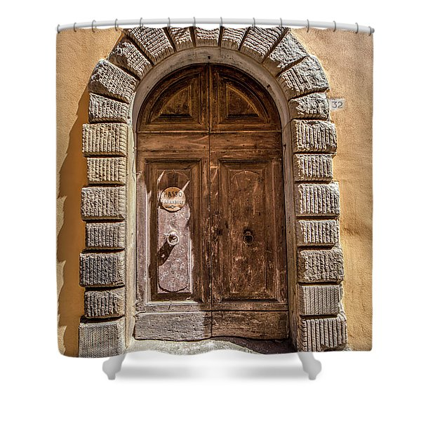 Door Thirty Two Of Tuscany Shower Curtain