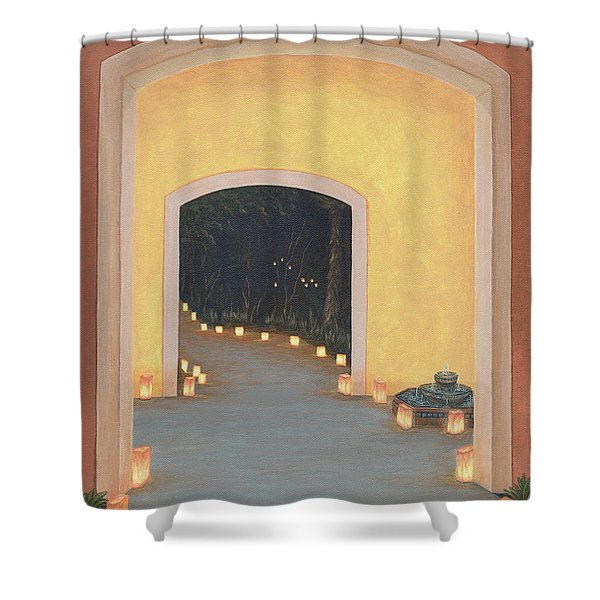 Doorway To The Festival Of Lights Shower Curtain