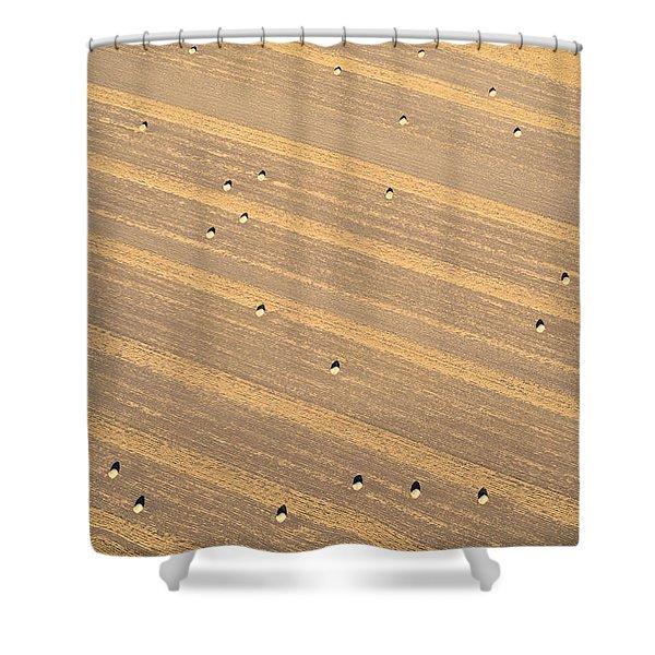 Dot Matrix Shower Curtain