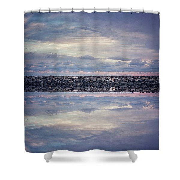 Double Exposure 2 Shower Curtain
