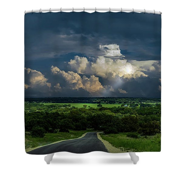 Down Hill From Here Shower Curtain