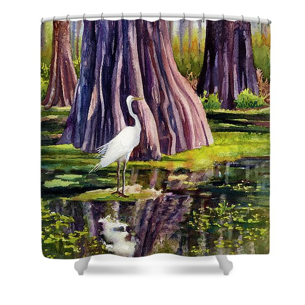 Down In The Swamplands Shower Curtain